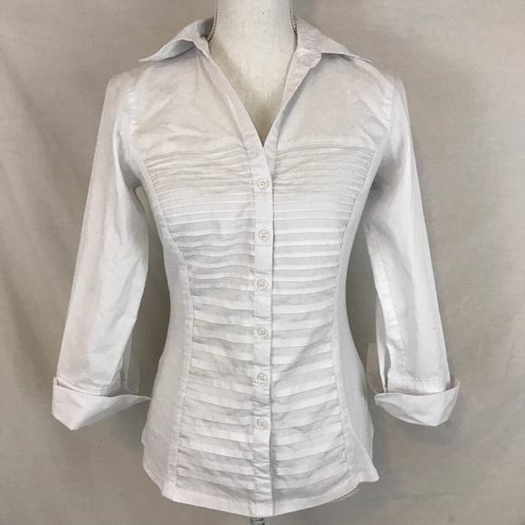 bd493bfff2ccea Zac & Rachel 3/4 Sleeves Pleated Button Down Shirt.  M_5b3fb14a03087c696e9e5d67